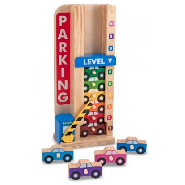 Melissa & Doug Fordon Stack & Count Parking Garage från Melissa & doug