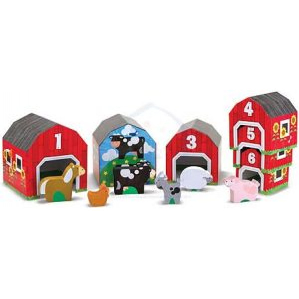 Melissa & Doug Nesting & Sorting Barns & Animals från Melissa & doug