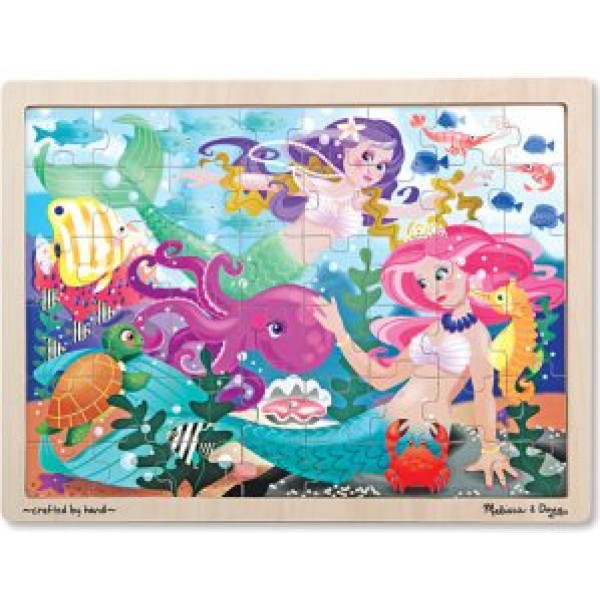 Melissa & Doug Pussel Mermaid Fantasea Wooden Jigsaw Puzzle - 48Pc från Melissa & doug