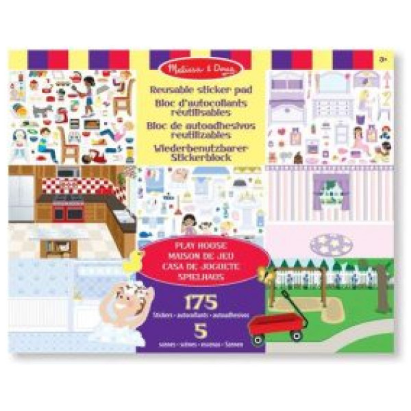 Melissa & Doug Reusable Sticker Pad - Play House från Melissa & doug