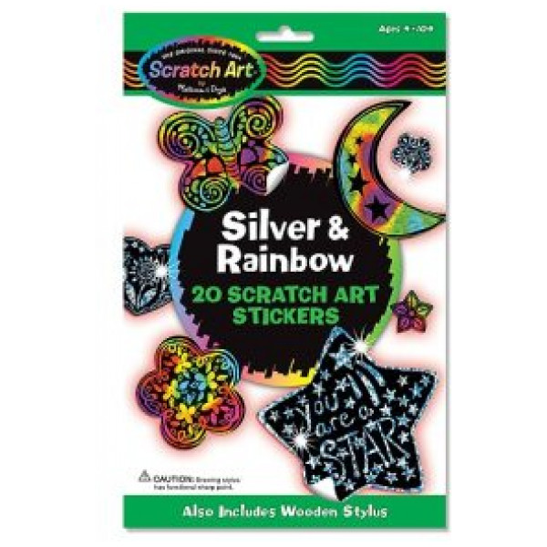 Melissa & Doug Scratch Art Stickers - Silver And Rainbow från Melissa & doug