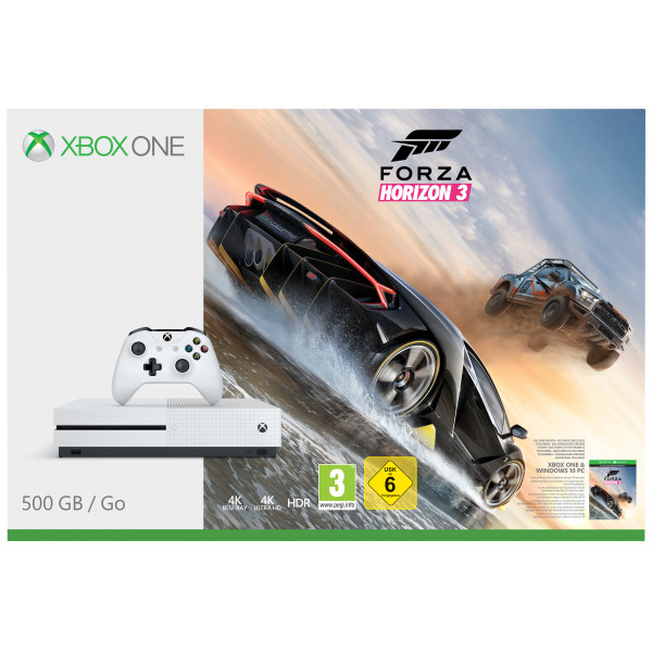 Microsoft Tv-Spel Xbox One S Console - 500 Gb - Forza Horizon 3 Bundle från Microsoft