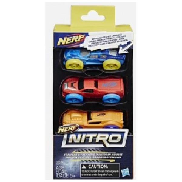 Nerf Leksaksvapen Nitro Foam Car 3-Pack från Nerf