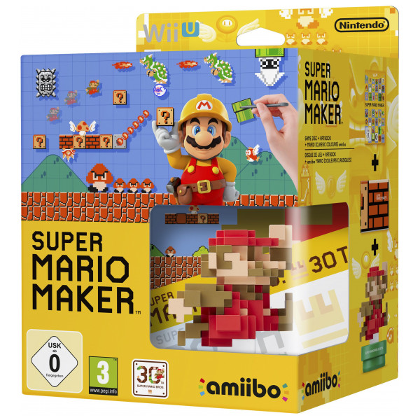 Nintendo Tv-Spel Super Mario Maker + Artbook + Amiibo Bundle från Nintendo