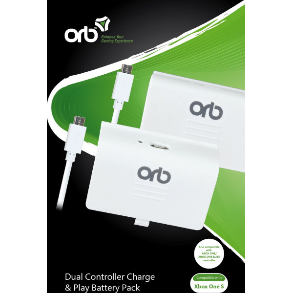 Orb Tv-Spel Dual Controller Battery Pack - For Xboxone S från Orb