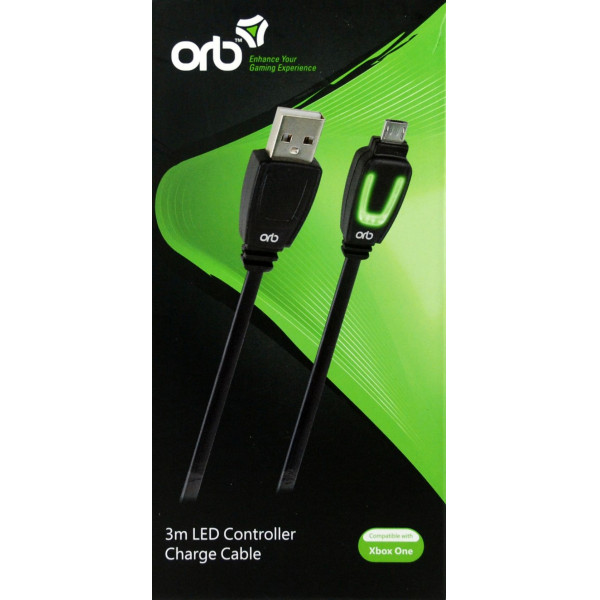 Orb Tv-Spel Xbox One - Led Controller Charge Cable 3M från Orb