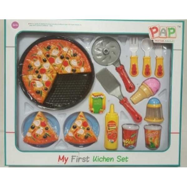 Pap - Practise And Play Köksleksak Pap - Pizza Set Med Kardborre från Pap - practise and play