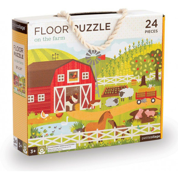 Petit Collage Pussel Floor Puzzle - On The Farm 24 Pcs från Petit collage