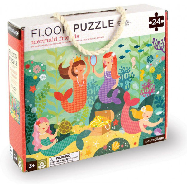 Petit Collage Pussel Floor Puzzle With Mermaid Friends 24 Pcs från Petit collage