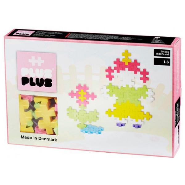 Plus Lego Midi Pastel - 50 Pcs 2-538 från Plus plus