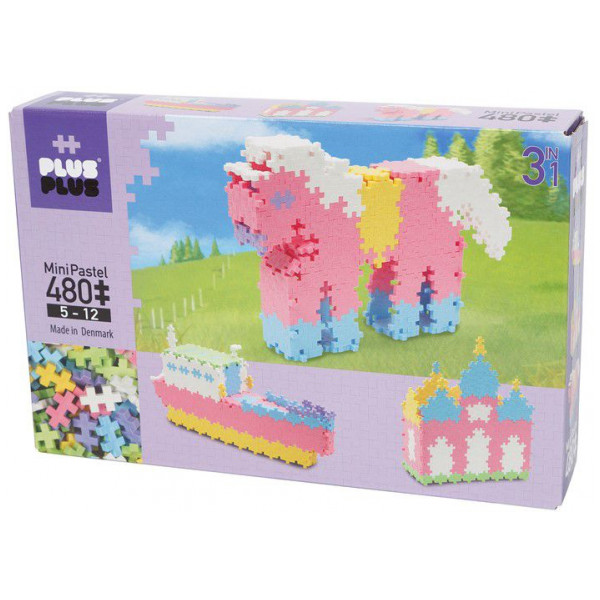 Plus Lego Mini Pastel 480 Stk 3I1 från Plus plus