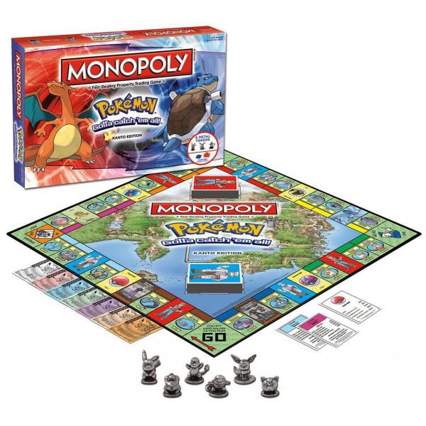 Pokemon Sällskapsspel Monopoly - Kanto Edition från Pokemon