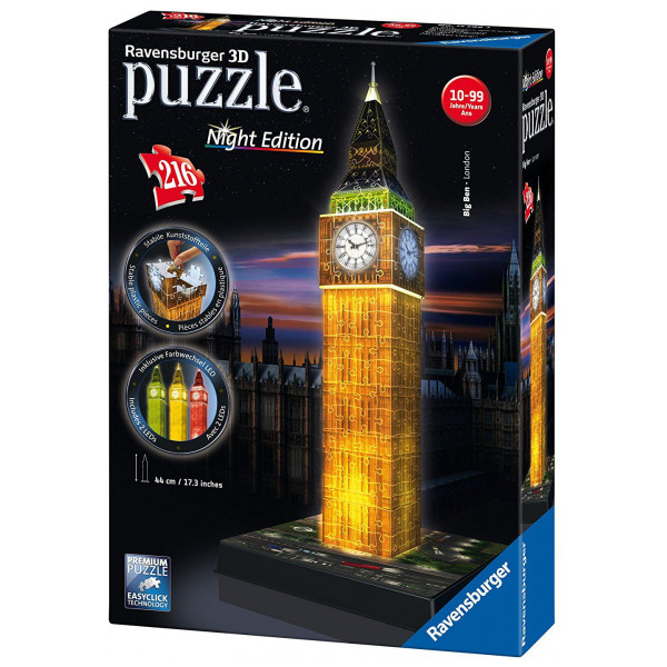 Ravensburger Pussel Ravensbuger - 3D Puzzle - Big Ben - Night Edition från Ravensburger
