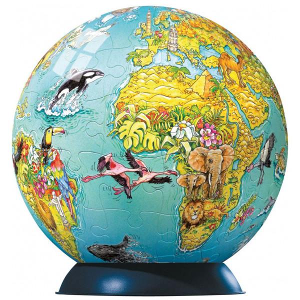 Ravensburger Pussel Ravensbuger - 3D Puzzle - Children's Globe Puzzleball - 108Pc från Ravensburger