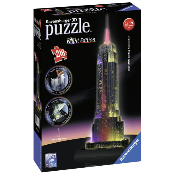Ravensburger Pussel Ravensbuger - 3D Puzzle - Empire State Building - Night Edition från Ravensburger