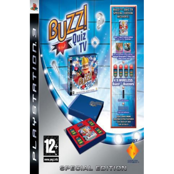 Scee Tv-Spel Buzz Quiz Tv Special Edition With 4 Wireless Buzzers från Scee