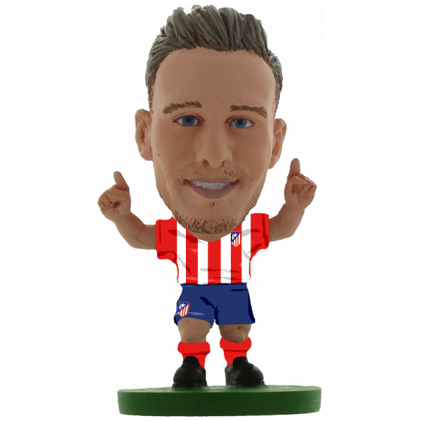 Soccerstarz Miniatyrfigur Atletico Madrid Saul Niguez - Home Kit Classic från Soccerstarz