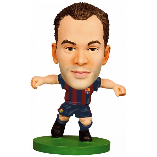 Soccerstarz Miniatyrfigur Barcelona Andres Iniesta - Home Kit 2018 Version från Soccerstarz