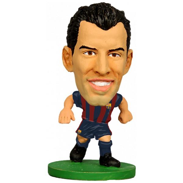 Soccerstarz Miniatyrfigur Barcelona Sergio Busquets - Home Kit 2018 Version från Soccerstarz