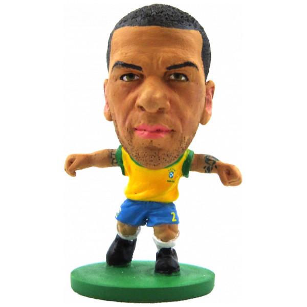Soccerstarz Miniatyrfigur Brazil Dani Alves - Home Kit från Soccerstarz