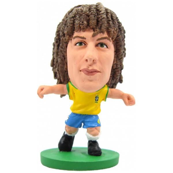 Soccerstarz Miniatyrfigur Brazil David Luiz - Home Kit från Soccerstarz