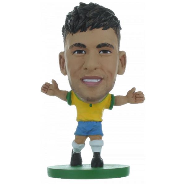 Soccerstarz Miniatyrfigur Brazil Neymar Jr - Home Kit från Soccerstarz