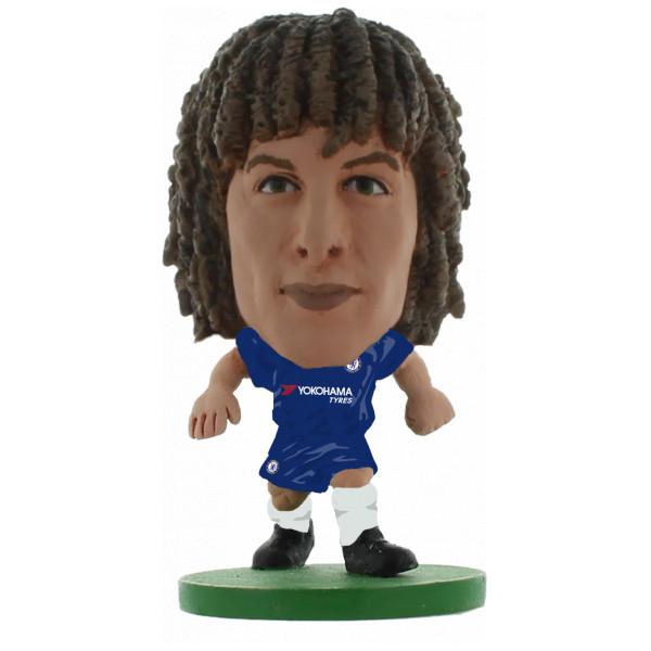 Soccerstarz Miniatyrfigur Chelsea David Luiz - Home Kit 2018 Version från Soccerstarz