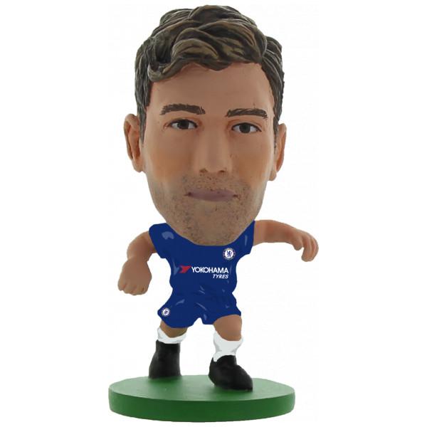 Soccerstarz Miniatyrfigur Chelsea Marcos Alonso - Home Kit 2018 Version från Soccerstarz