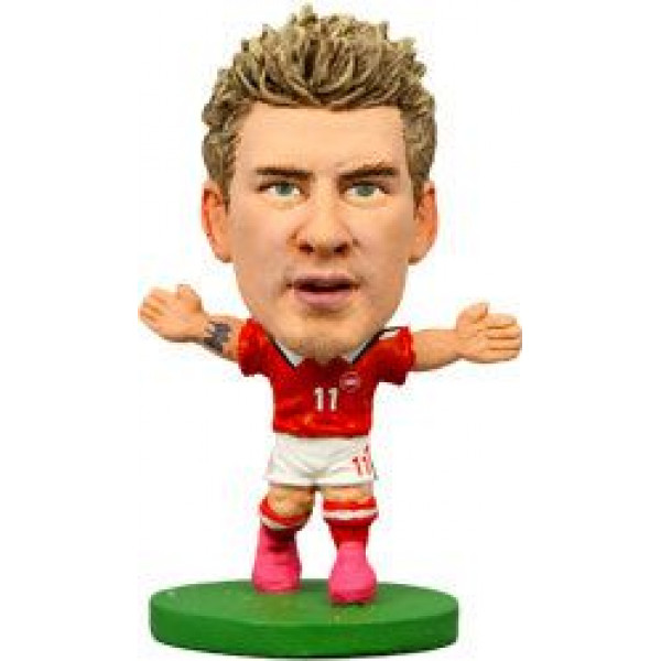 Soccerstarz Miniatyrfigur Denmark Nicklas Bendtner från Soccerstarz