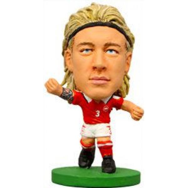 Soccerstarz Miniatyrfigur Denmark Simon Kjær från Soccerstarz