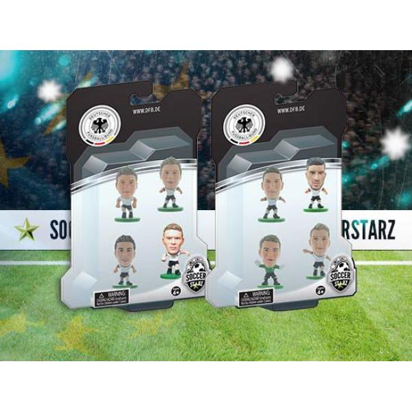 Soccerstarz Miniatyrfigur Germany - Euro Team 4 Player Pack B - Götze Ginter Müller Kroos från Soccerstarz