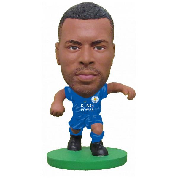 Soccerstarz Miniatyrfigur Leicester Wes Morgan - Home Kit Classic från Soccerstarz