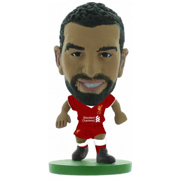 Soccerstarz Miniatyrfigur Liverpool Mohamed Salah Home Kit 2018 Version från Soccerstarz