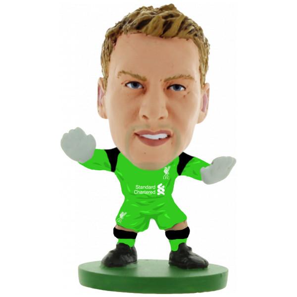 Soccerstarz Miniatyrfigur Liverpool Simon Mignolet Home Kit 2017 från Soccerstarz