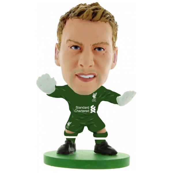 Soccerstarz Miniatyrfigur Liverpool Simon Mignolet Home Kit 2018 Version från Soccerstarz