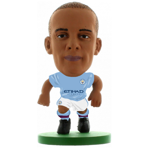 Soccerstarz Miniatyrfigur Manchester City Vincent Kompany - Home Kit 2018 Version från Soccerstarz