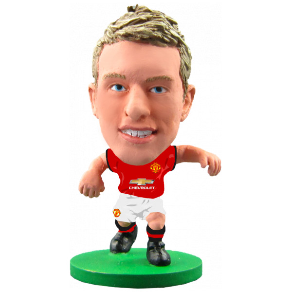Soccerstarz Miniatyrfigur Manchester United Phil Jones - Home Kit 2018 Version från Soccerstarz