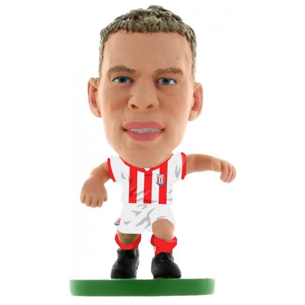 Soccerstarz Miniatyrfigur Stoke Ryan Shawcross - Home Kit Classic från Soccerstarz