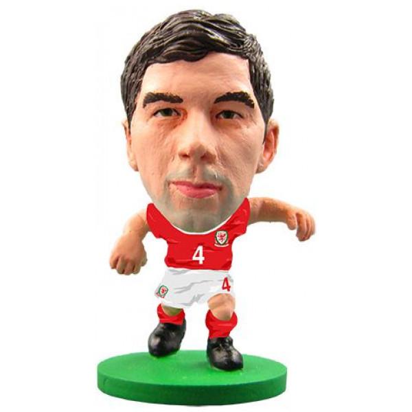 Soccerstarz Miniatyrfigur Wales - Joe Ledley från Soccerstarz