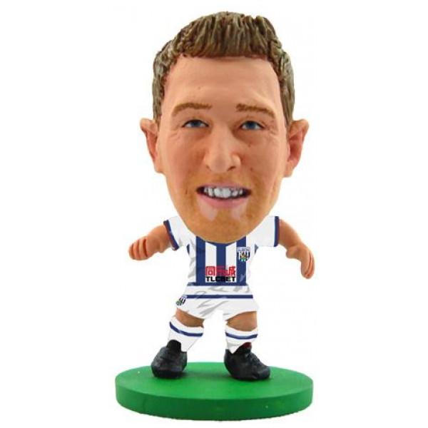 Soccerstarz Miniatyrfigur West Bromwich Darren Fletcher - Home Kit Classic från Soccerstarz