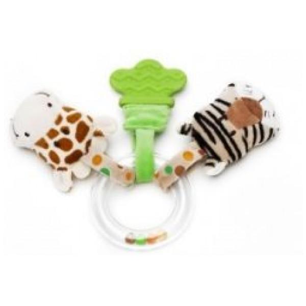 Teddykompaniet Babyleksak Diinglisar Wild Ringskallra Giraff & Tiger från Teddykompaniet