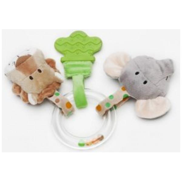 Teddykompaniet Babyleksak Diinglisar Wild Ringskallra Lejon & Elefant från Teddykompaniet