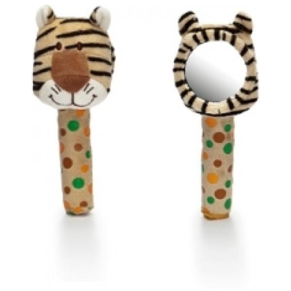 Teddykompaniet Babyleksak Diinglisar Wild Spegel M Skallra Tiger från Teddykompaniet