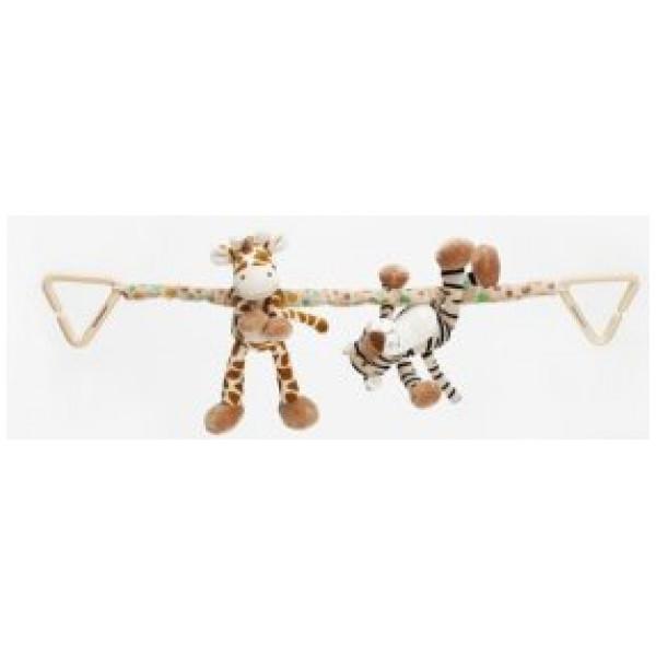Teddykompaniet Babyleksak Diinglisar Wild Vagnhänge Giraff & Tiger från Teddykompaniet