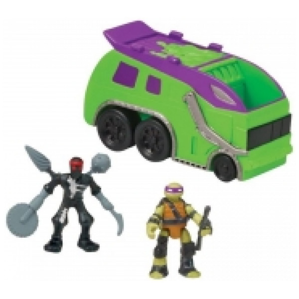 Teenage Mutant Ninja Turtles Actionfigur Tmnt Micro Mutants Trash Truck från Teenage mutant ninja turtles