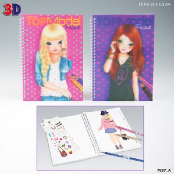 Top Model Topmodel 3D Fickmålarbok från Top model