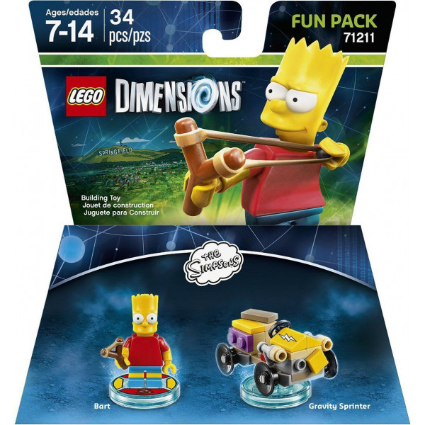 Warner Home Video Lego Dimensions Fun Pack - Bart Simpsons från Warner home video