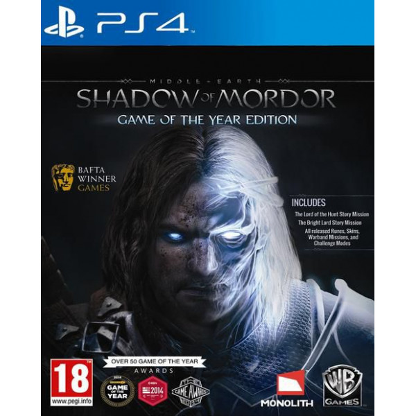Warner Home Video Tv-Spel Middle-Earth Shadow Of Mordor - Game Of The Year Edition från Warner home video