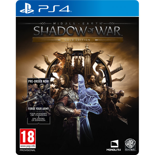 Warner Tv-Spel Middle-Earth Shadow Of War - Gold Edition från Warner
