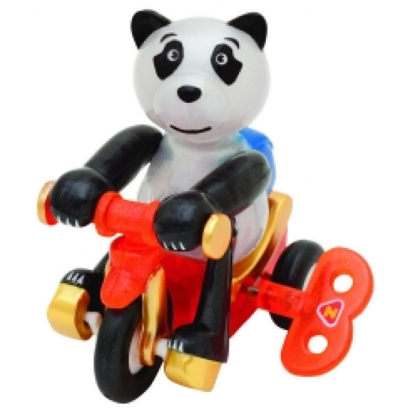 Windups Miniatyrfigur Bike Rider Panda Bruno från Windups